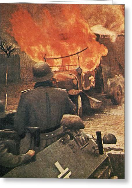Devastation Greeting Cards - Operation Barbarossa, 1943 Greeting Card by German Photographer