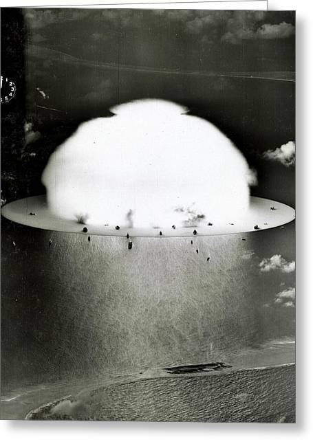Atomic Greeting Cards - Operation Crossroads Greeting Card by Benjamin Yeager