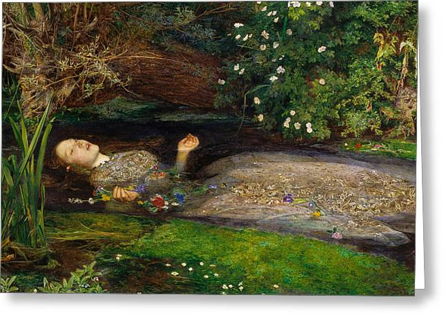 Stream Digital Greeting Cards - Ophelia  Greeting Card by John Everett Millais