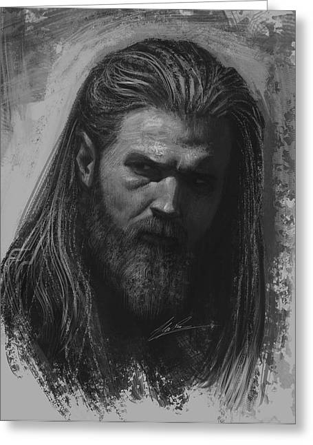 Sons Of Anarchy Greeting Cards - Opie Greeting Card by Alex Ruiz