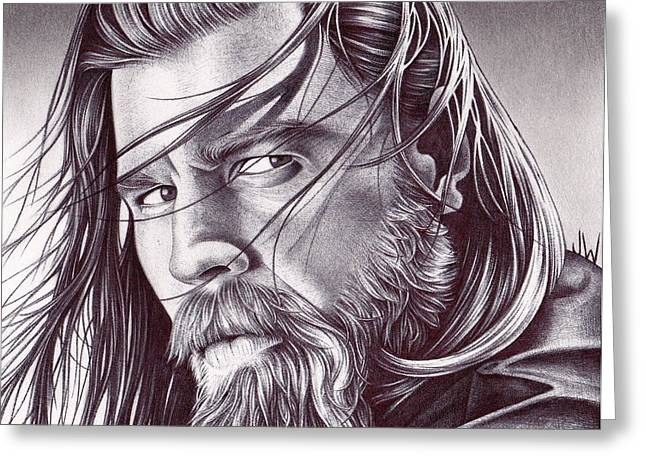 Sons Of Anarchy Greeting Cards - Opie Greeting Card by Jamie Warkentin