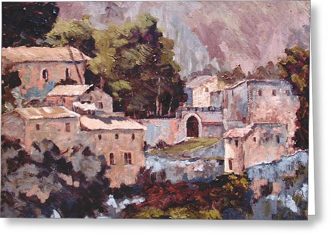 Provence Village Greeting Cards - Oppede le Vieux Greeting Card by Kenneth Kropf