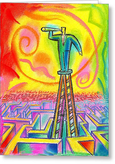 Maze Greeting Cards - Opportunity Greeting Card by Leon Zernitsky