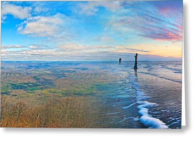 Ocean Vista Greeting Cards - Opposites Attract Greeting Card by Betsy A  Cutler