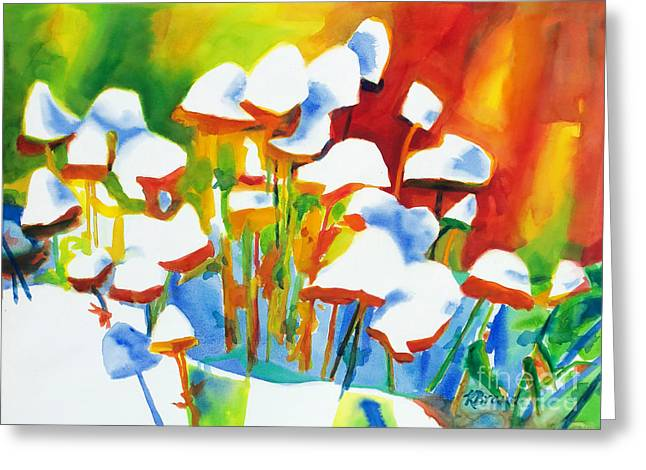 Repetition Paintings Greeting Cards - Opposites Attract Greeting Card by Kathy Braud