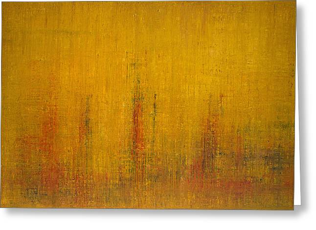 Abstract Expressionist Greeting Cards - Opt.47.14 Let the Sunshine In Greeting Card by Derek Kaplan