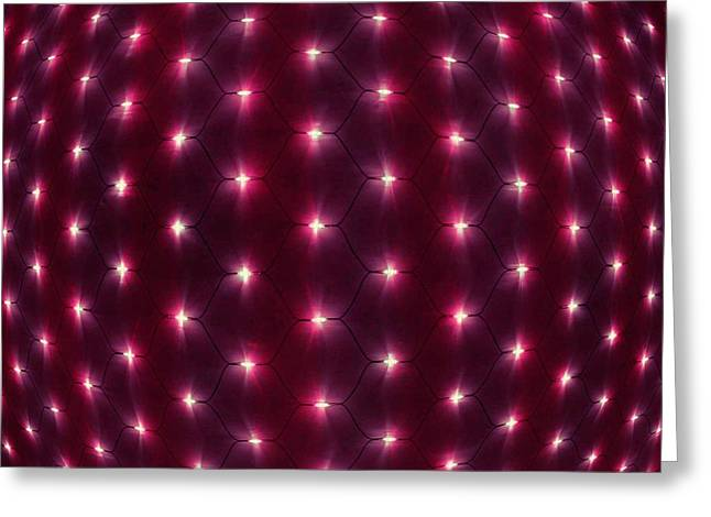 Transfer Paintings Greeting Cards - Optic Lights Background 3 Greeting Card by Lanjee Chee