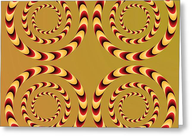 Optical Ilusions Summer Spin Greeting Card by Sumit Mehndiratta