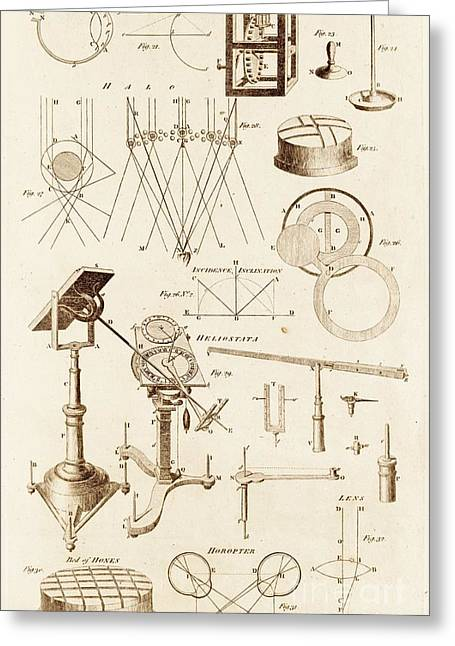 Optical Instrument And Diagrams Greeting Card by David Parker