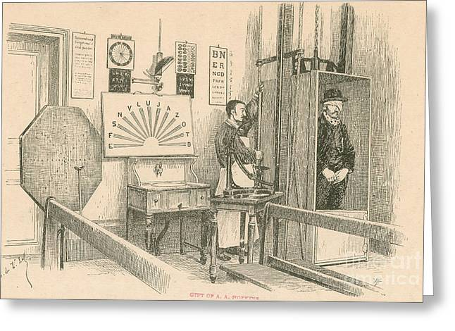 Science Greeting Cards - Optical Testing Room, 1892 Greeting Card by Science Source
