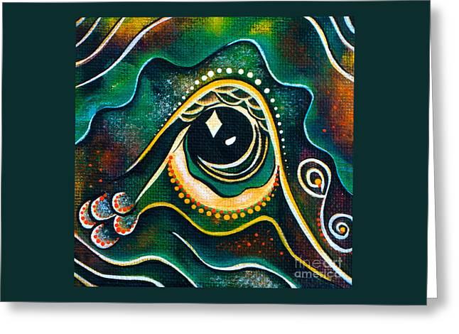 Brow Chakra Greeting Cards - Optimist Spirit Eye Greeting Card by Deborha Kerr