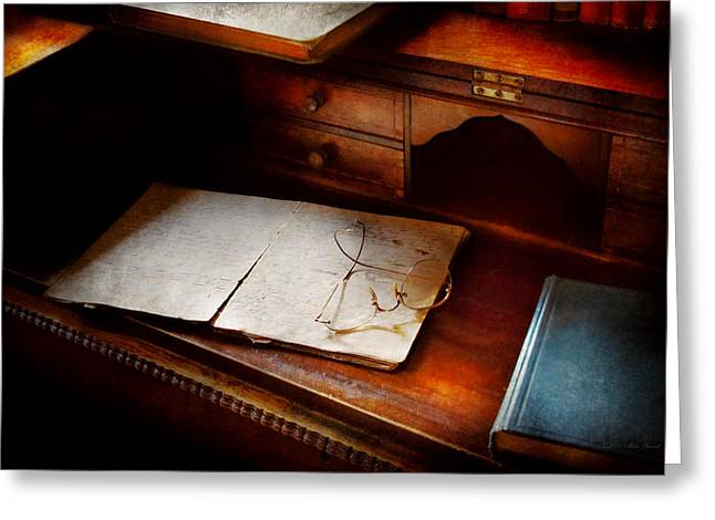 Magistrates Greeting Cards - Optometrist - Done for the night Greeting Card by Mike Savad