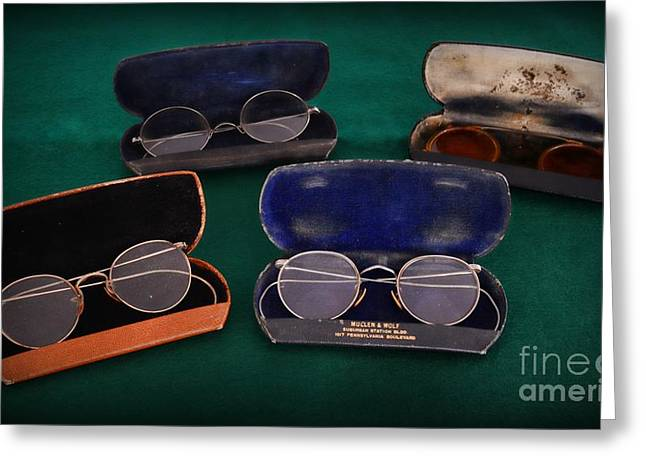 Vision Office Greeting Cards - Optometrist - Old Glasses Greeting Card by Paul Ward