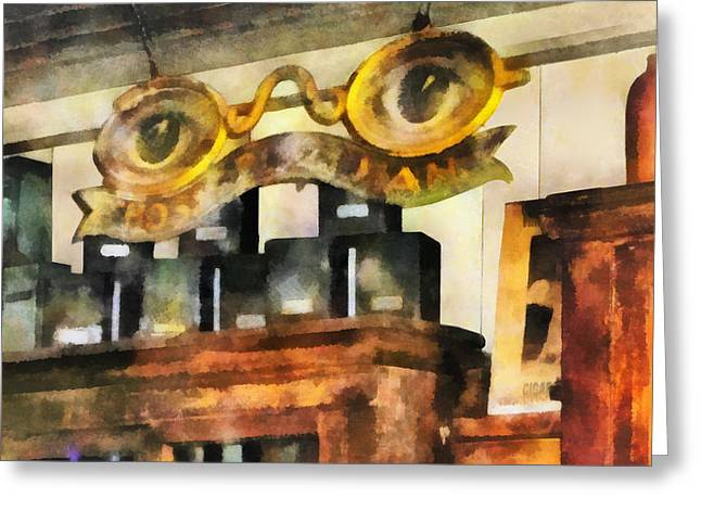 Eyeglasses Greeting Cards - Optometrist - Spectacles Shop Greeting Card by Susan Savad