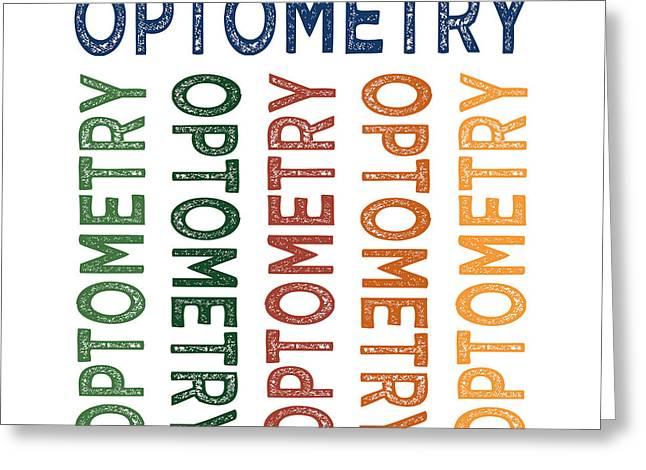 Optometry Cute Colorful Greeting Card by Flo Karp