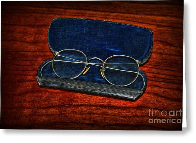 Medical Greeting Cards - Optometry - Vintage Glasses Greeting Card by Paul Ward