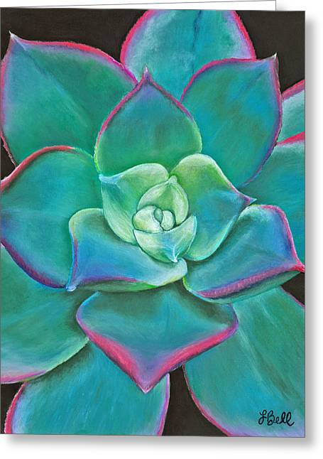 Plant Pastels Greeting Cards - Opulence Greeting Card by Laura Bell
