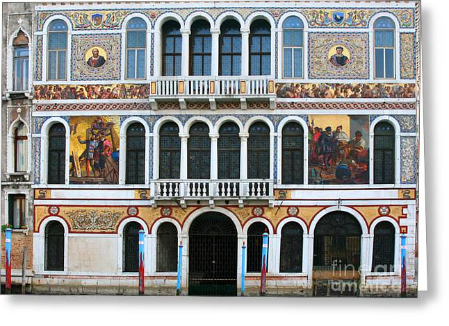 Venice Pyrography Greeting Cards - Opulence Greeting Card by Mariarosa Rockefeller