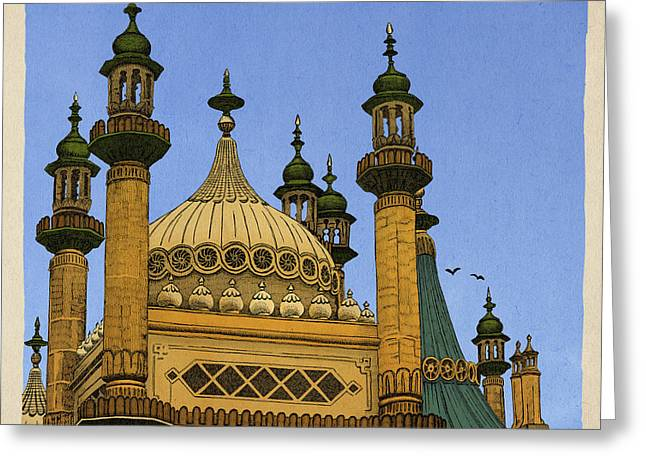 Palaces Greeting Cards - Opulence Greeting Card by Meg Shearer