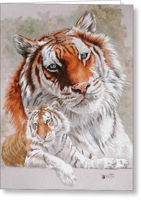 Wildcats Mixed Media Greeting Cards - Opulent Greeting Card by Barbara Keith