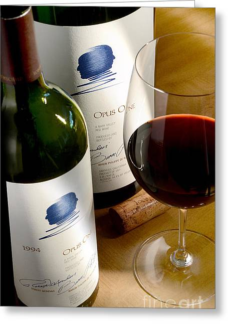 Best Sellers -  - Wine-glass Greeting Cards - Opus with Friends Greeting Card by Jon Neidert