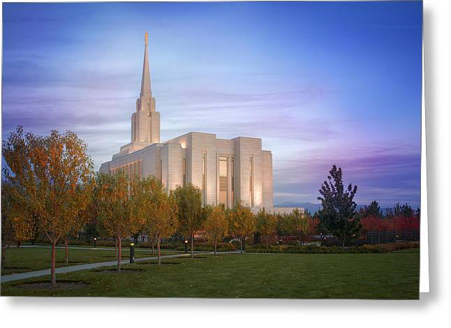 Saint Hope Greeting Cards - Oquirrh Mountain Autumn Greeting Card by Dustin  LeFevre