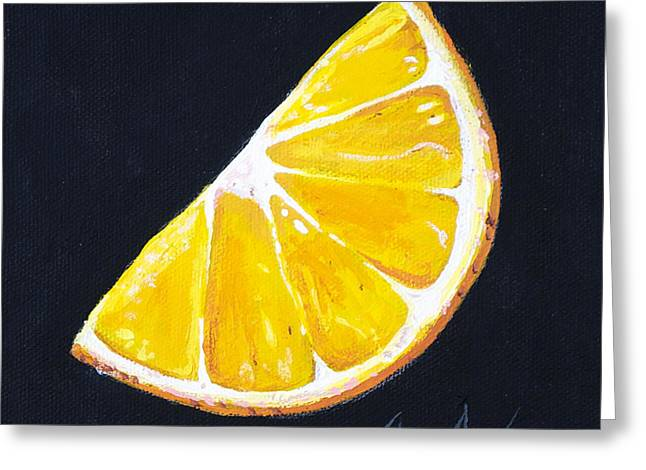 Pealed Greeting Cards - Orange Greeting Card by Aaron Spong