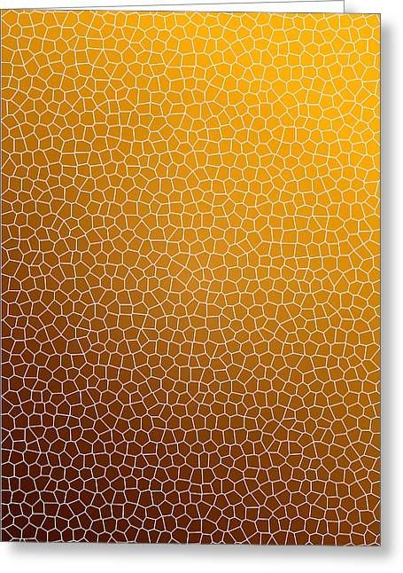 Assorted Mixed Media Greeting Cards - Orange Abstract Glass Pattern Greeting Card by Christina Rollo