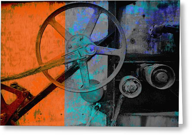 Manipulated Photography Greeting Cards - Orange and Blue  Greeting Card by Ann Powell