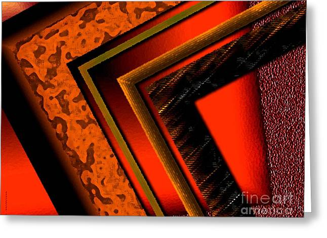 Transparency Geometric Greeting Cards - Orange and Brown  Greeting Card by Mario  Perez