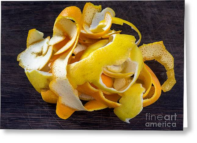 Grate Greeting Cards - Orange and lemon zest Greeting Card by Frank Bach