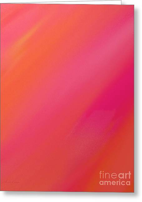 Sorbet Digital Art Greeting Cards - Orange And Raspberry Sorbet Abstract 1 Greeting Card by Andee Design
