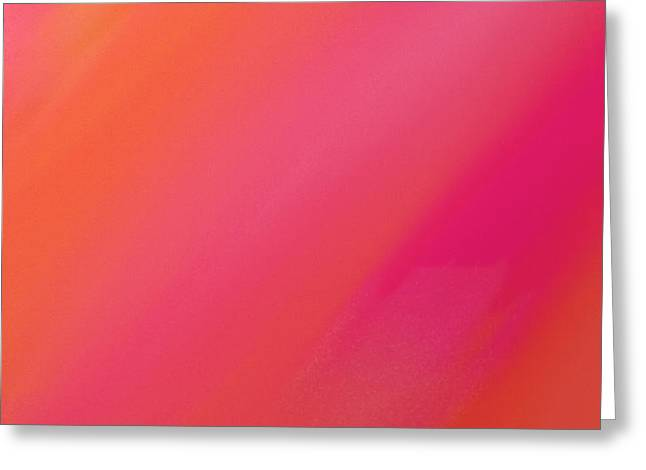 Orange And Raspberry Sorbet Abstract 1 Greeting Card by Andee Design