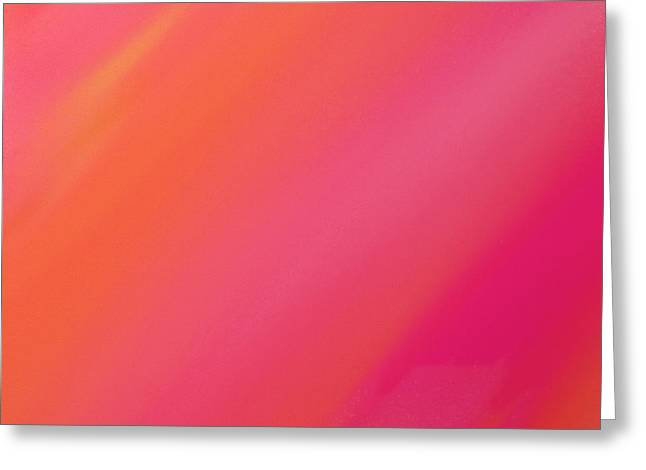 Orange And Raspberry Sorbet Abstract 2 Greeting Card by Andee Design