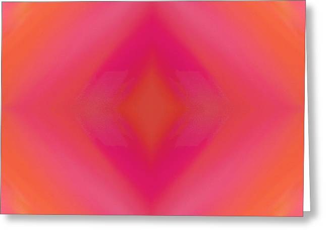Orange And Raspberry Sorbet Abstract 5 Greeting Card by Andee Design