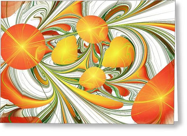 Orange Attitude Greeting Card by Anastasiya Malakhova