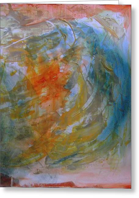 Denying Greeting Cards - Orange Blue 1 Greeting Card by Karen Lillard