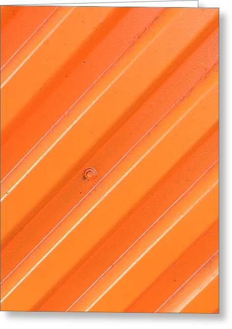Metallic Sheets Greeting Cards - Orange Bolt Greeting Card by Art Block Collections