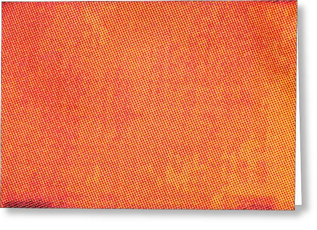Abstract Style Greeting Cards - Orange cotton  Greeting Card by Tom Gowanlock
