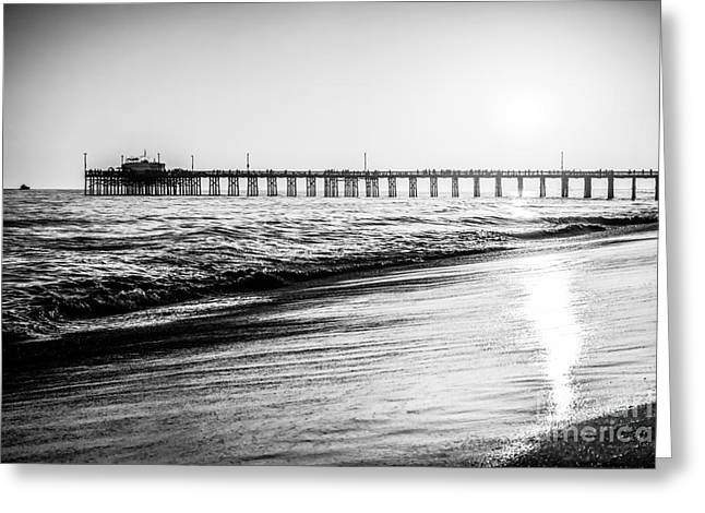 Seascape Photography Greeting Cards - Orange County California Picture of Balboa Pier  Greeting Card by Paul Velgos
