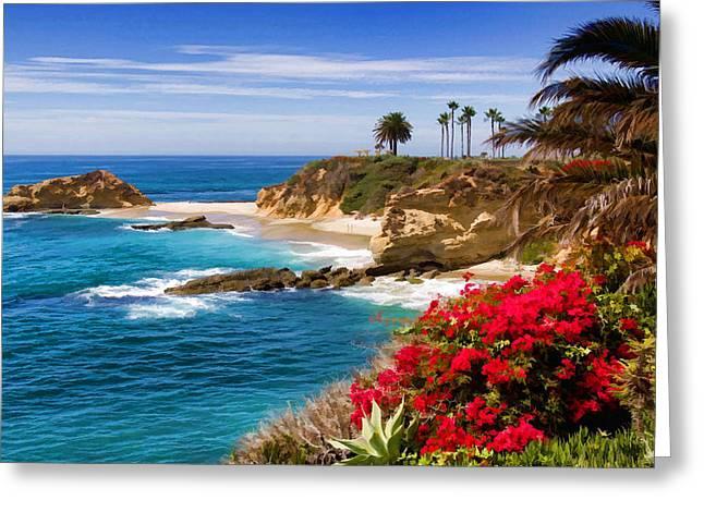 Recently Sold -  - California Art Greeting Cards - Orange County coastline Greeting Card by Cliff Wassmann