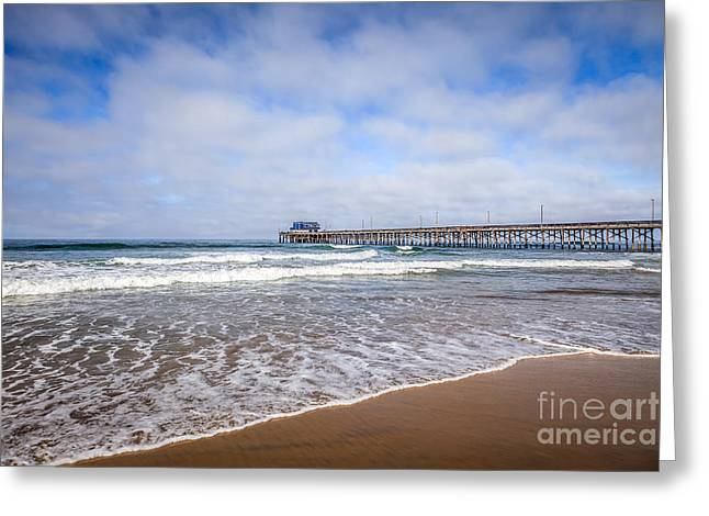 Western Usa Greeting Cards - Orange County Newport Beach Pier Greeting Card by Paul Velgos