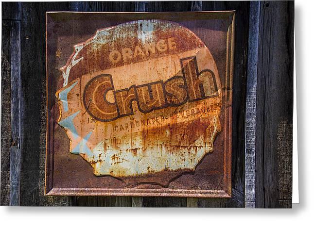 Orange Crush Sign Greeting Card by Garry Gay