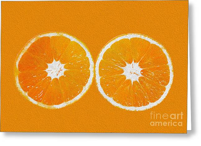 Orange Eyes Greeting Card by Victoria Herrera