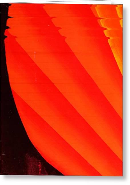 Orange Fan Greeting Card by Anne-Elizabeth Whiteway