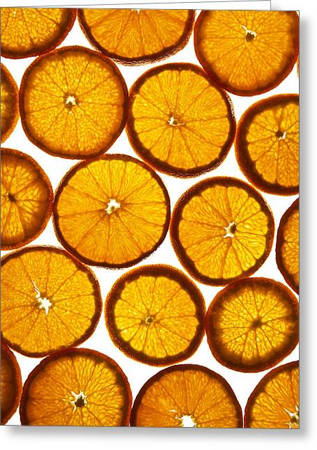 Background Greeting Cards - Orange fresh Greeting Card by Vitaliy Gladkiy