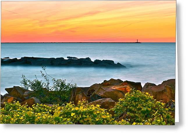 Orange Glow Greeting Card by Frozen in Time Fine Art Photography