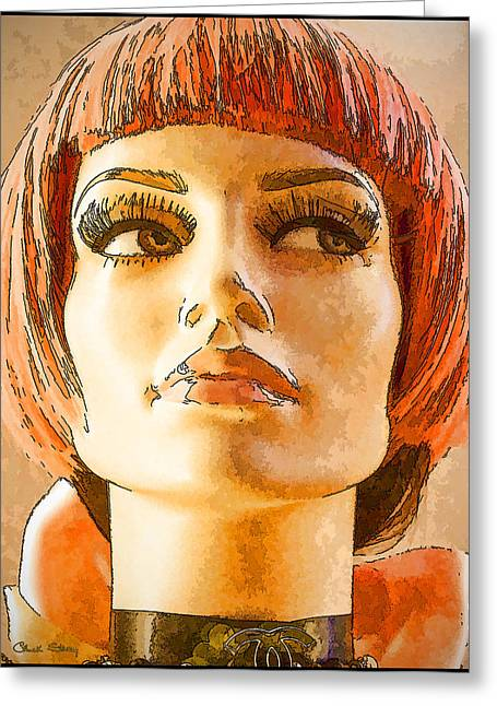 Ladies Of Rodeo Drive Greeting Cards - Orange Hair Greeting Card by Chuck Staley