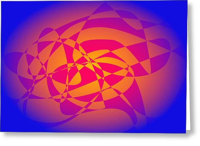 Gradations Digital Art Greeting Cards - Orange in the Blue Sky Greeting Card by Masaaki Kimura