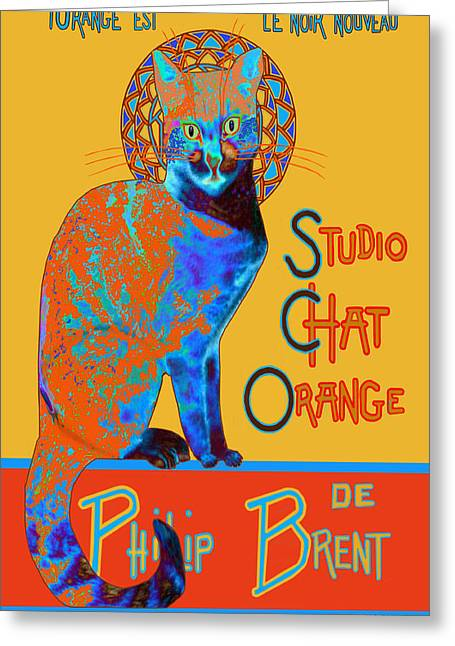 Recently Sold -  - Intrigue Greeting Cards - Orange is the New Black Greeting Card by Philip Brent
